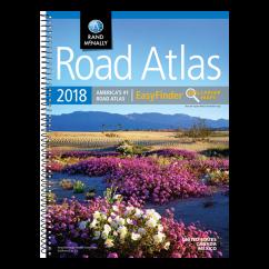 Rand McNally – 2018 Easyfinder Midsize Road Atlas of USA, Canada and Mexico