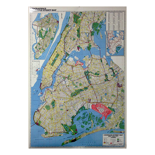 Boroughs Of New York City Laminated Wall Map Geographia Maps - New york city map with boroughs