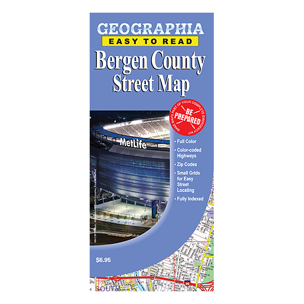 Bergen County NJ Street Map Geographia Maps - Map of bergen county nj