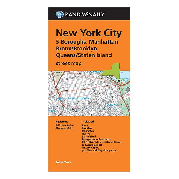 Rand McNally - New York City  5 Borough Map