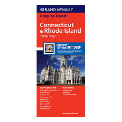 Rand McNally – Connecticut and Rhode Island States Map
