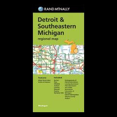 Rand McNally – Detroit and Southeast Michigan Street Map