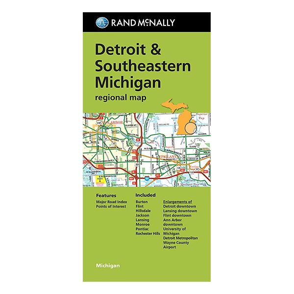 Rand McNally - Detroit and Southeast Michigan Street Map