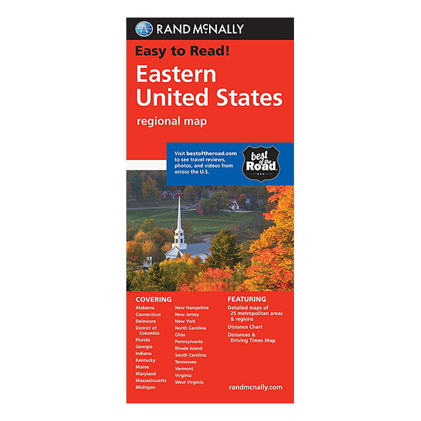 Rand McNally - Eastern United States Map