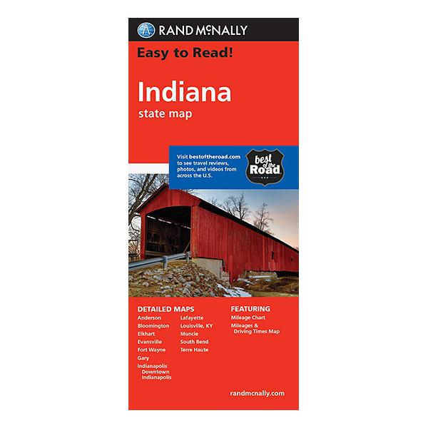 Rand McNally - Indiana States Map