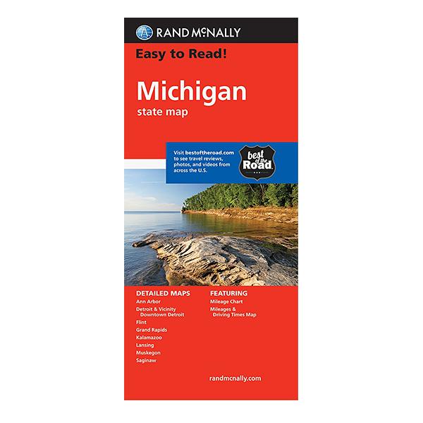 Rand McNally - Michigan States Map