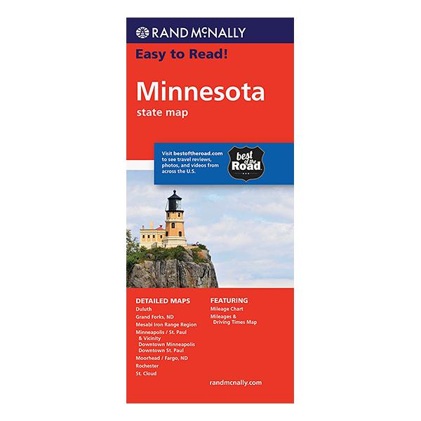 Rand McNally - Minnesota States Map