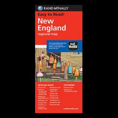 Rand McNally – New England States Map