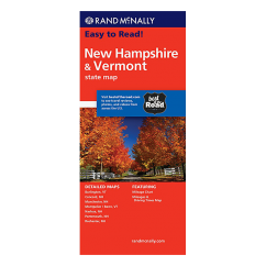 Rand McNally – New Hampshire and Vermont States Map