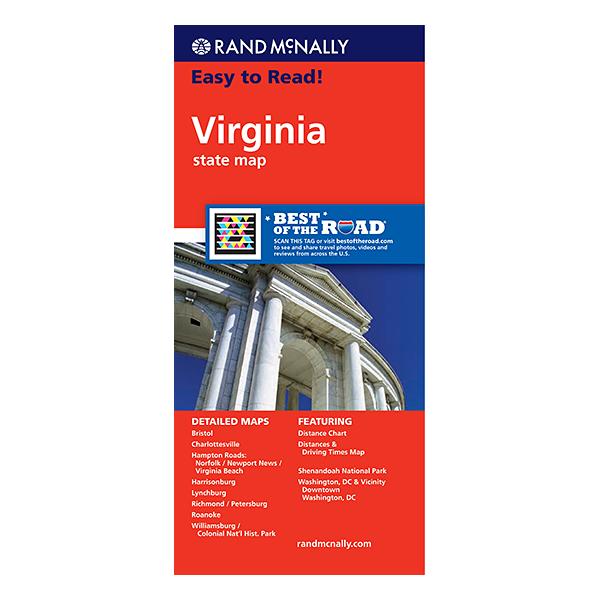 Rand McNally - Virginia State Map