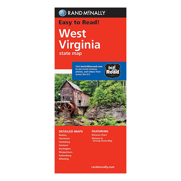 Rand McNally - West Virginia State  Map