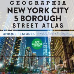 5 Boroughs of New York City Laminated Atlas